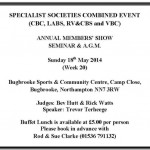 SPECIALIST SOCIETIES COMBINED EVENT 2014