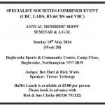 SPECIALIST SOCIETIES COMBINED EVENT 2014