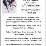 25th Jubilee Specialist Budgerigar Championship Show